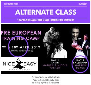 pre european training camp